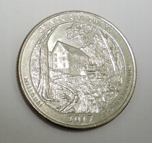USA 25 cents 2017P Ozark Riverways - Missouri