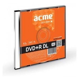 DVD+R Acme double layer 8.5GB 8X slim box