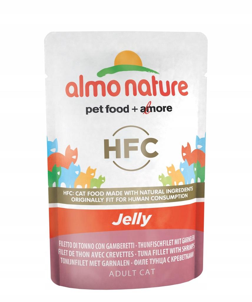 ALMO NATURE HFC Jelly - tuńczyk i krewetki 55 g