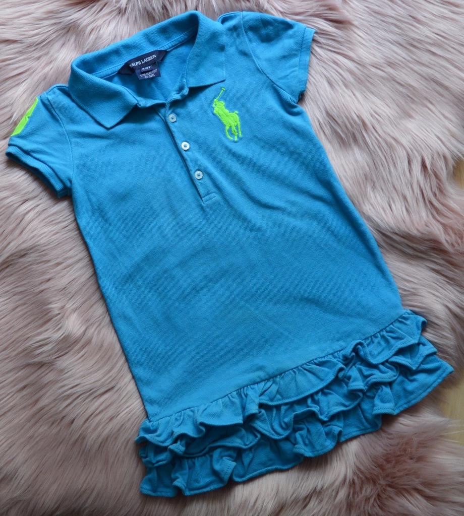 niebieska tunika Ralph Lauren 4/4T 3 lata 104CM