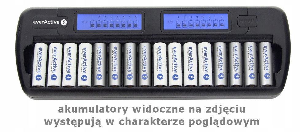 *PROFESJONALNA ŁADOWARKA EVERACTIVE NC-1600 R6/R03