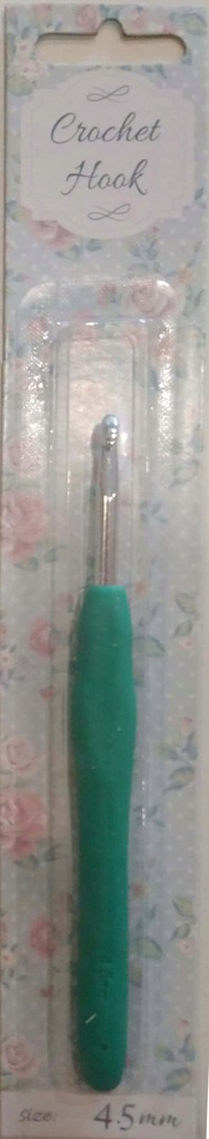 Szydełko z silikonową rączką 4,5mm