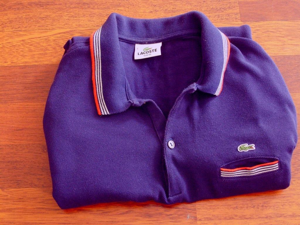Niebieska koszulka polo z długim rękawem Lacoste