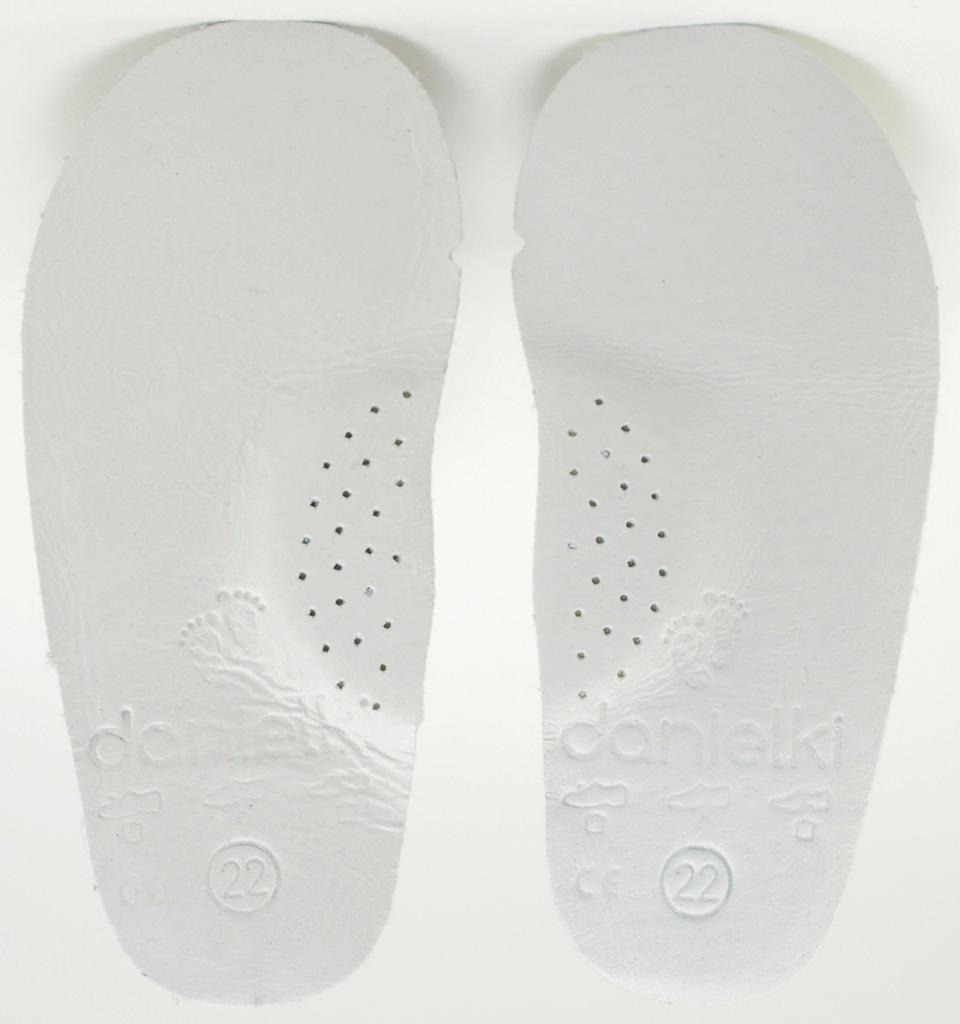 26 DANIELKI wkładki do butów profilow skóra 17,5cm