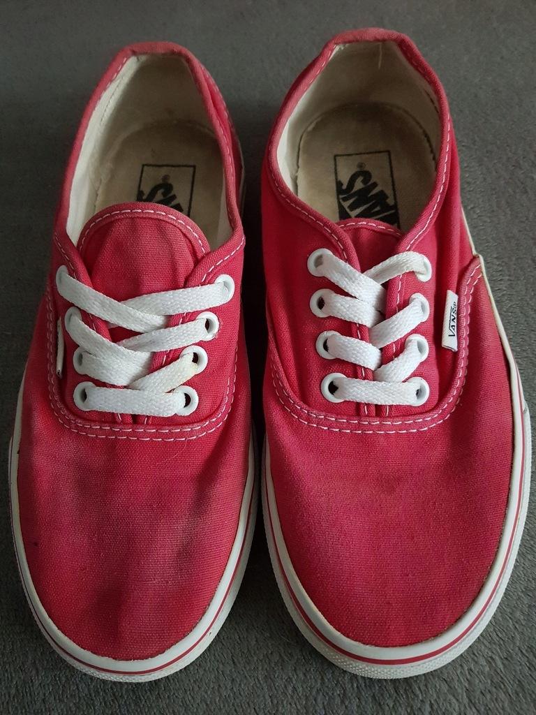 VANS czerwone vansy trampki tenisówki