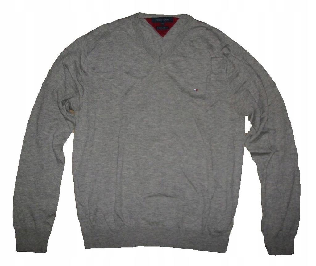 TOMMY HILFIGER wełniany sweter XXL OKAZJA