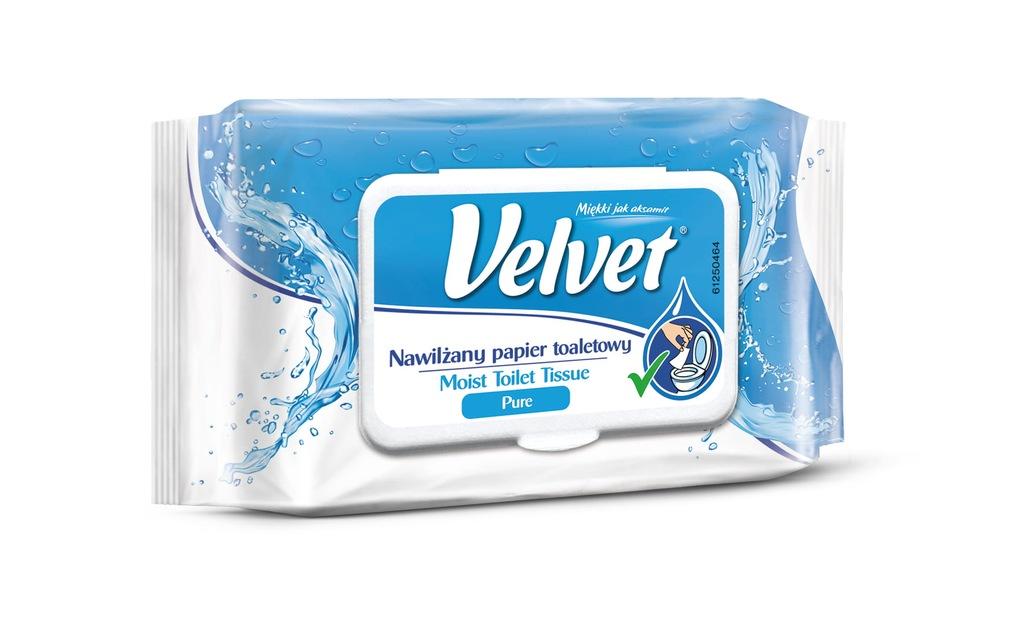 VELVET Nawilżany Papier toaletowy Moist Pure 42