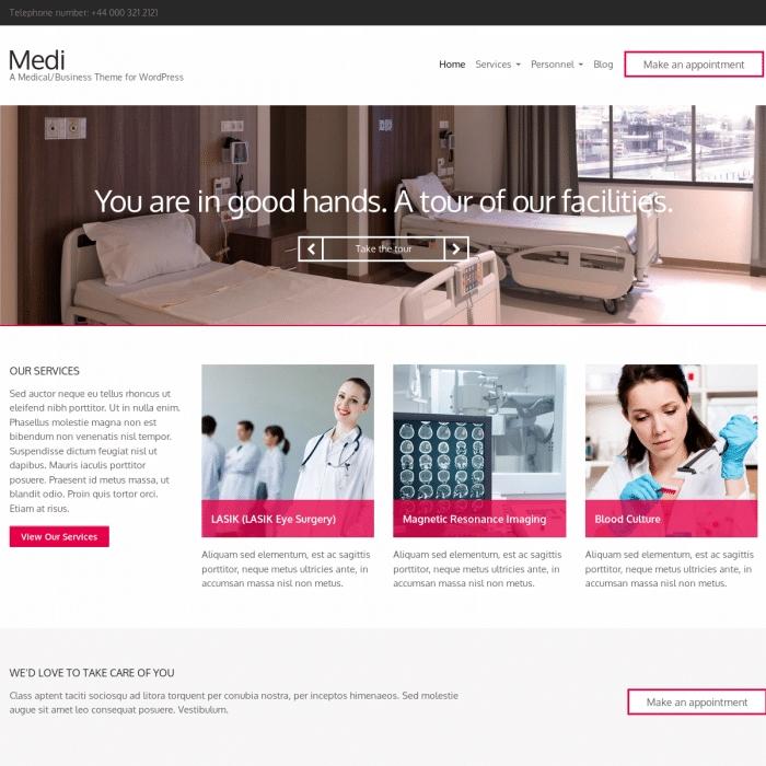 Szablon Medi Business WordPress Theme