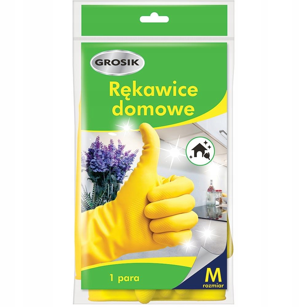 GROSIK Rękawiczki Domowe(Gumowe) - Rozmiar M