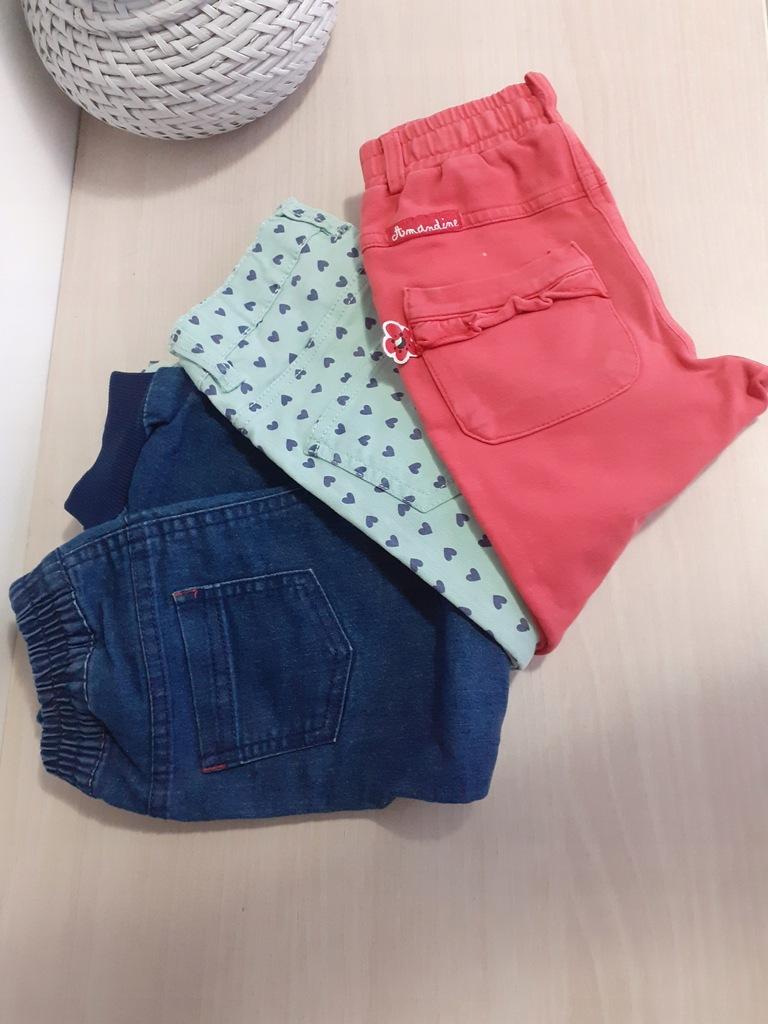 3 x spodnie dla dziewczynki 92/98