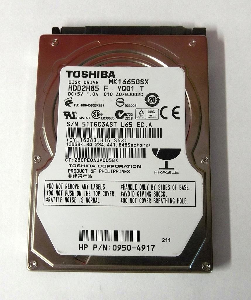 Dysk HDD TOSHIBA 120GB 100% SPRAWNY