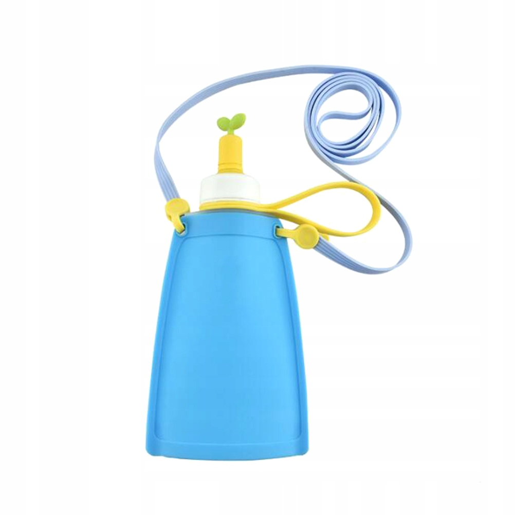 Blue Children Foldable Silicone Water Bag Carrier
