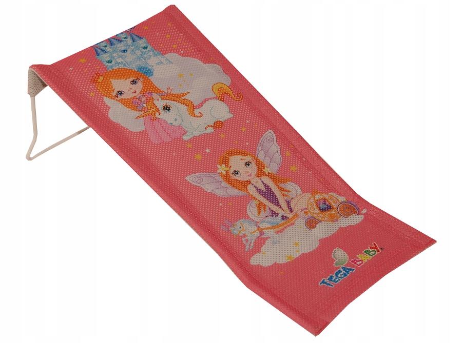 Leżaczek kąpielowy Księżniczka różowy LP-026-123