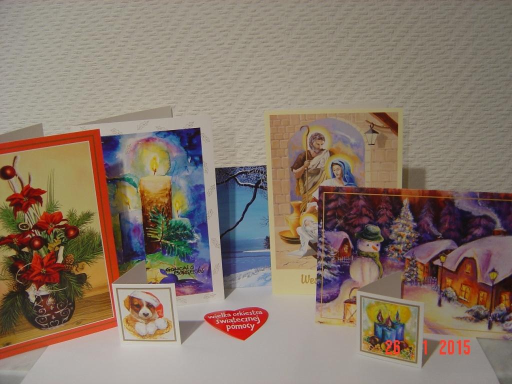 KARTKI i BILECIKI malowane ustami STROIK