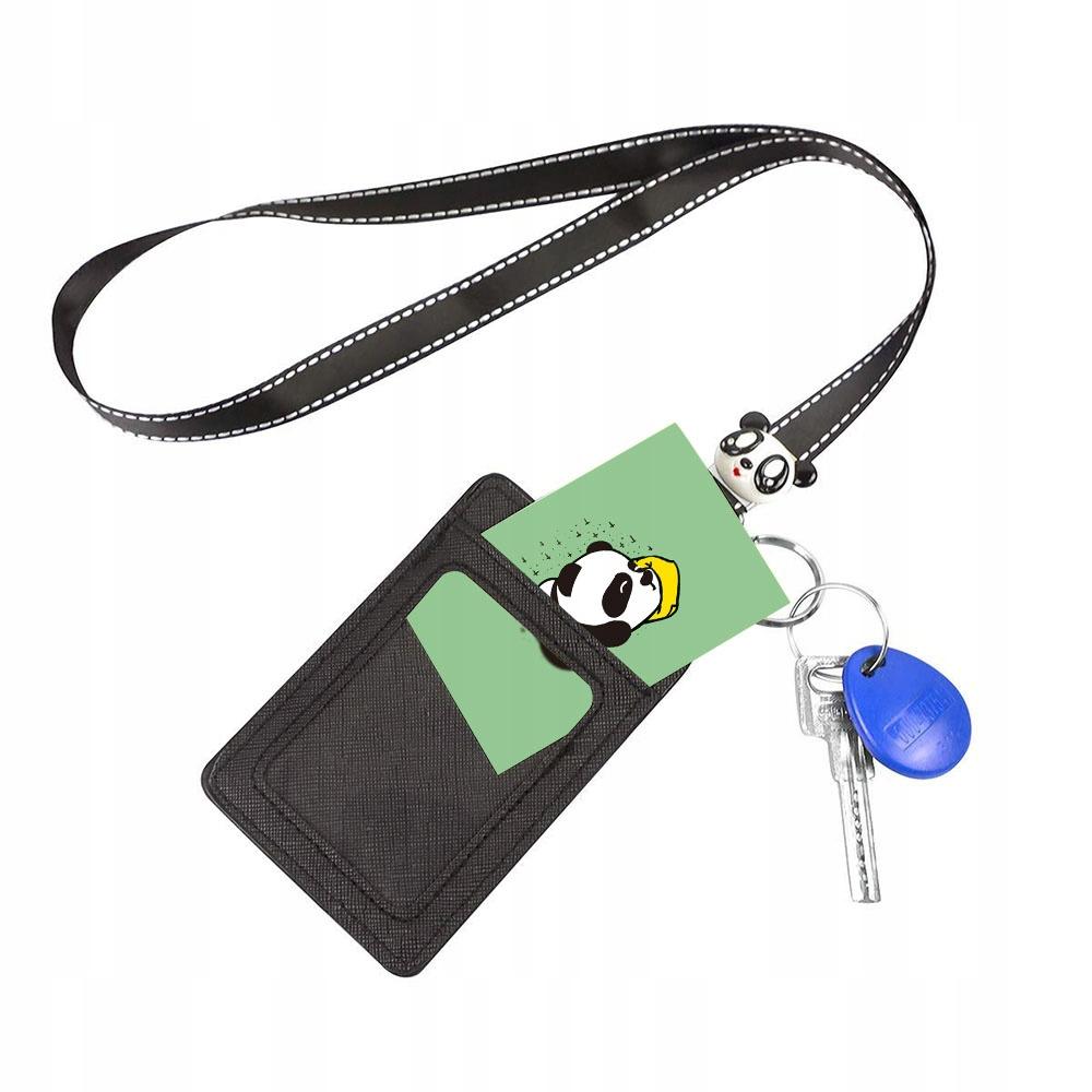 Etui Holder na Identyfikator karty + smycz - Panda