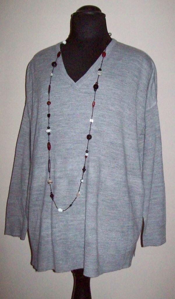 Yessica/C&A - sweterek szary - r. 52-54