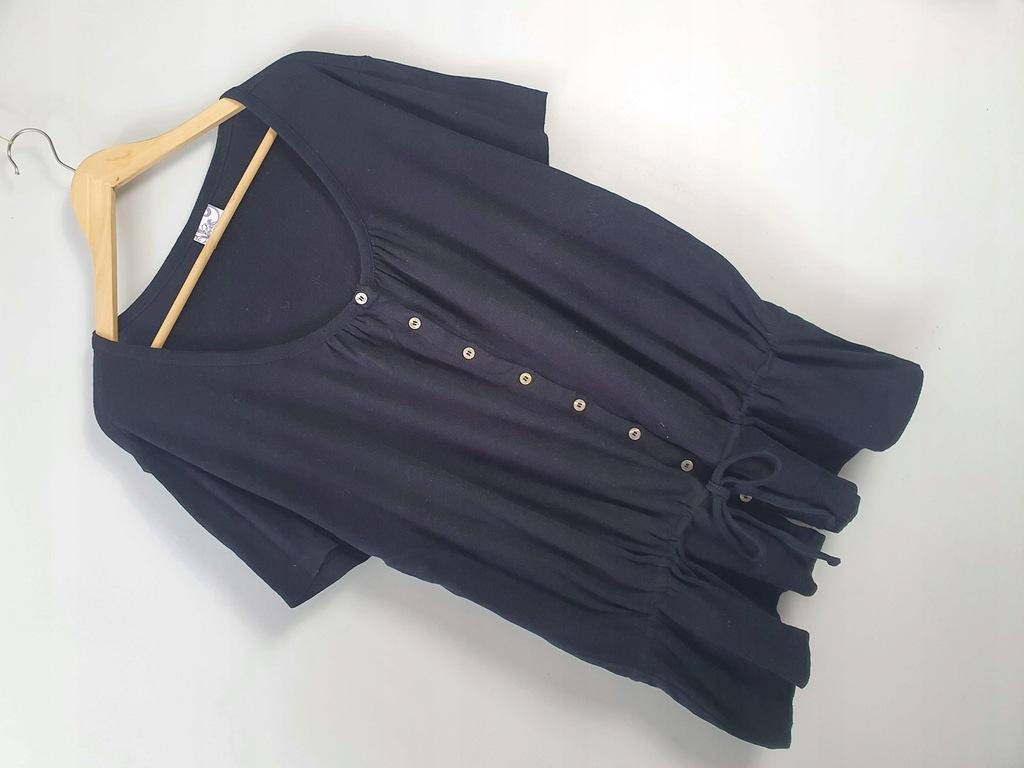 Czarna bluzka sweterek 50/52 z troczkiem