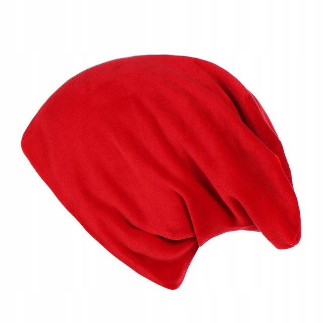 ZARA czapka damska czerwona welurowa