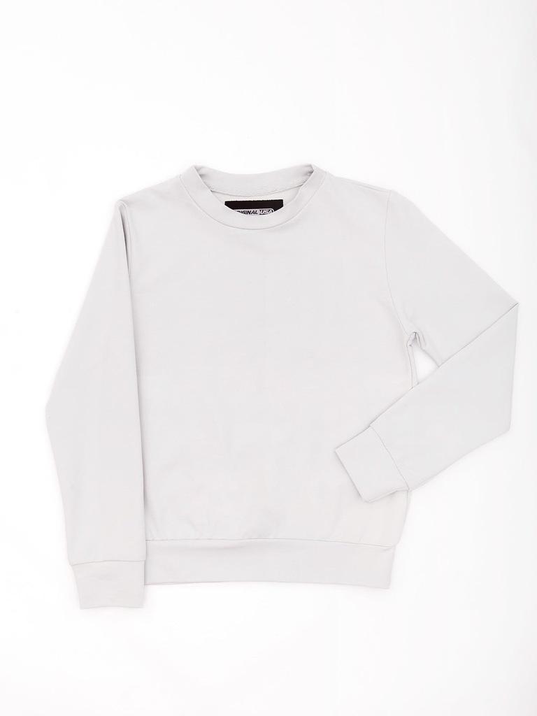 Bluza młodzieżowa basic jasnoszara 116