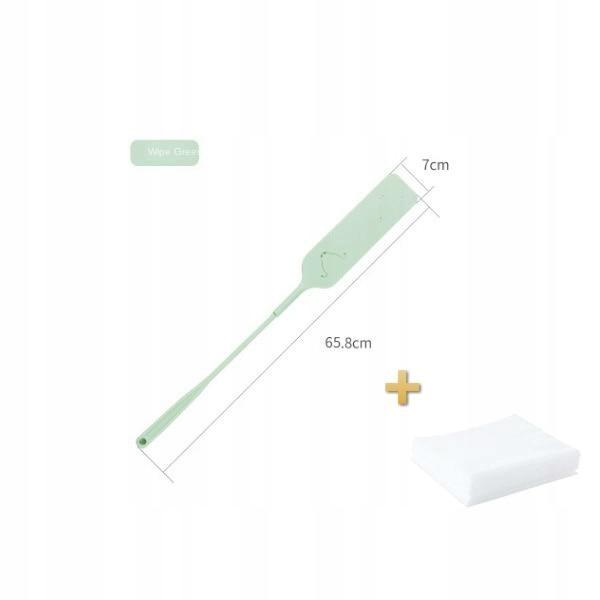 [Zielony] Odpinana ścierka do kurzu, szczotka do