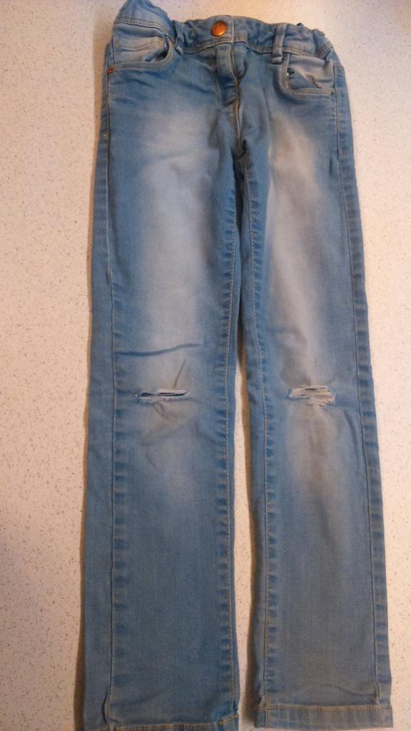 jeansy dla dziewczynki 122
