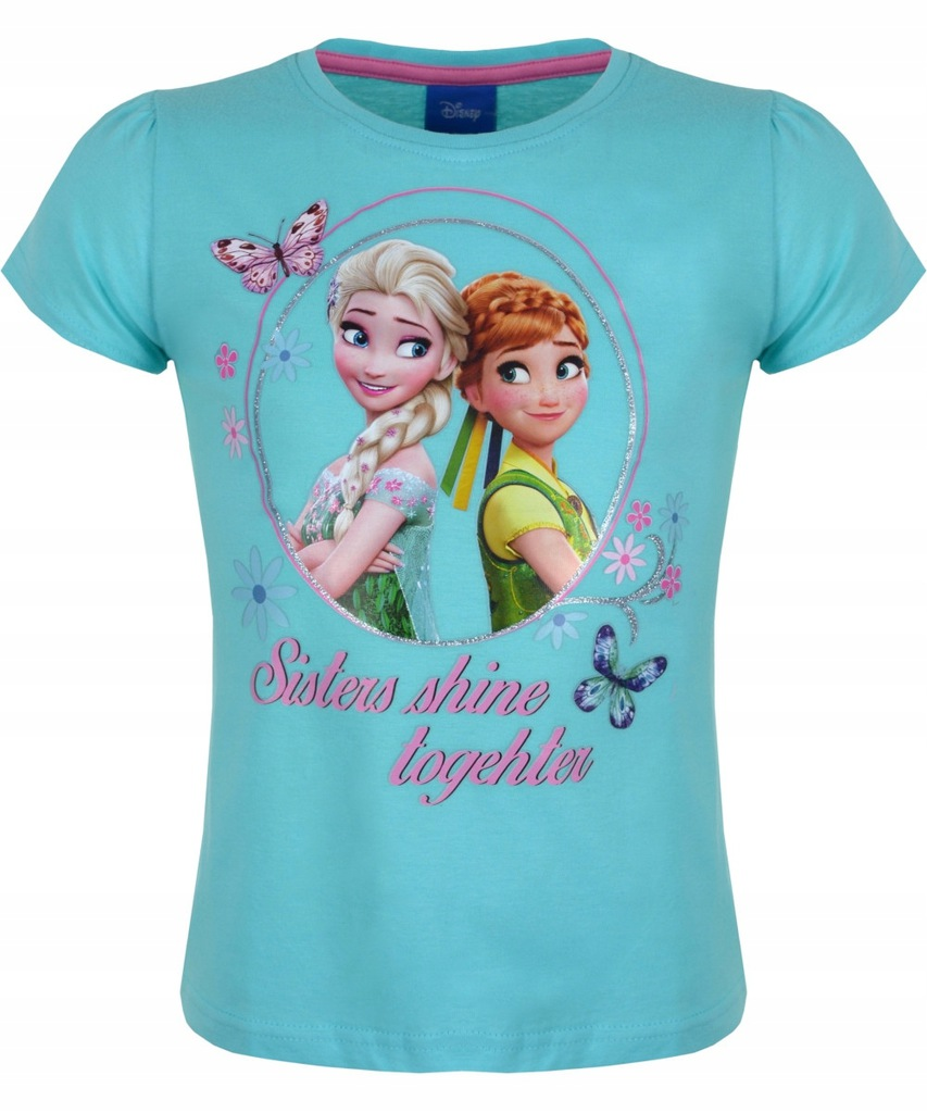 T-shirt Kraina Lodu Sisters niebieski 104