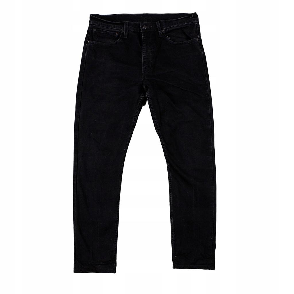 LEVIS 512 Czarne Męskie Spodnie Jeansowe W34 L30