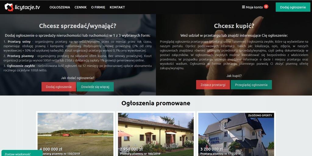 DOCHODOWY SERWIS - PORTAL INTERNETOWY LICYTACJE.TV