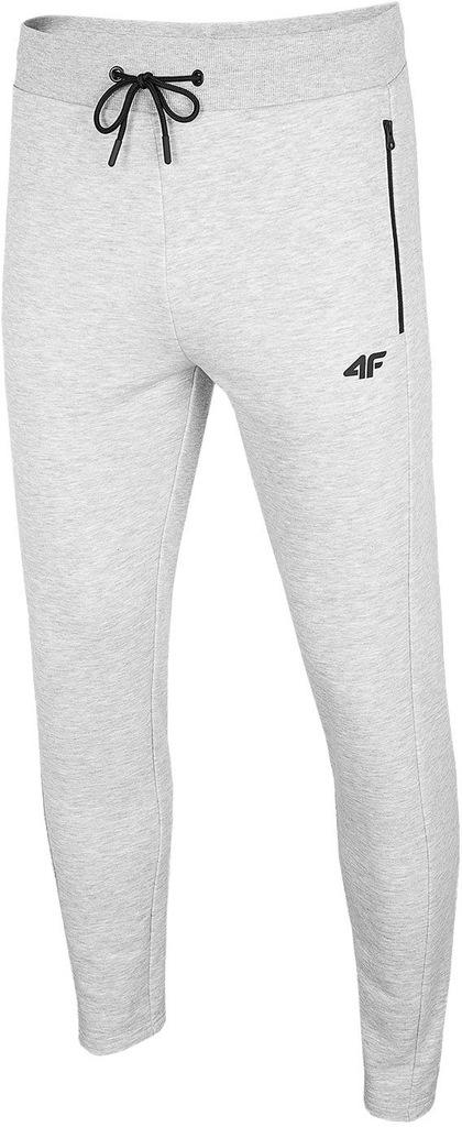 4F Spodnie dresowe męskie H4L20 SPMD010 szary XXL