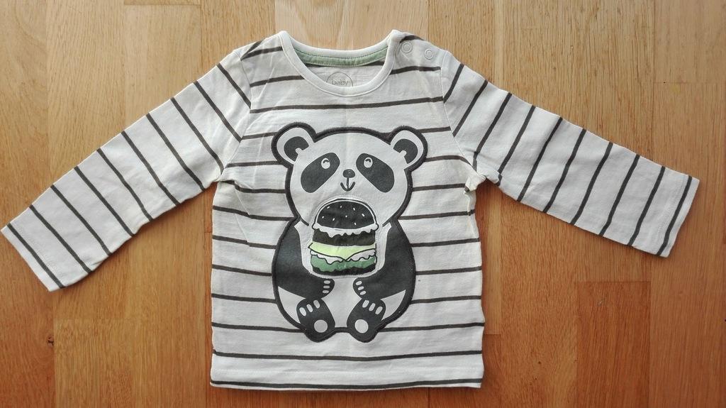 T-shirt chłopięcy z pandą C&A 80