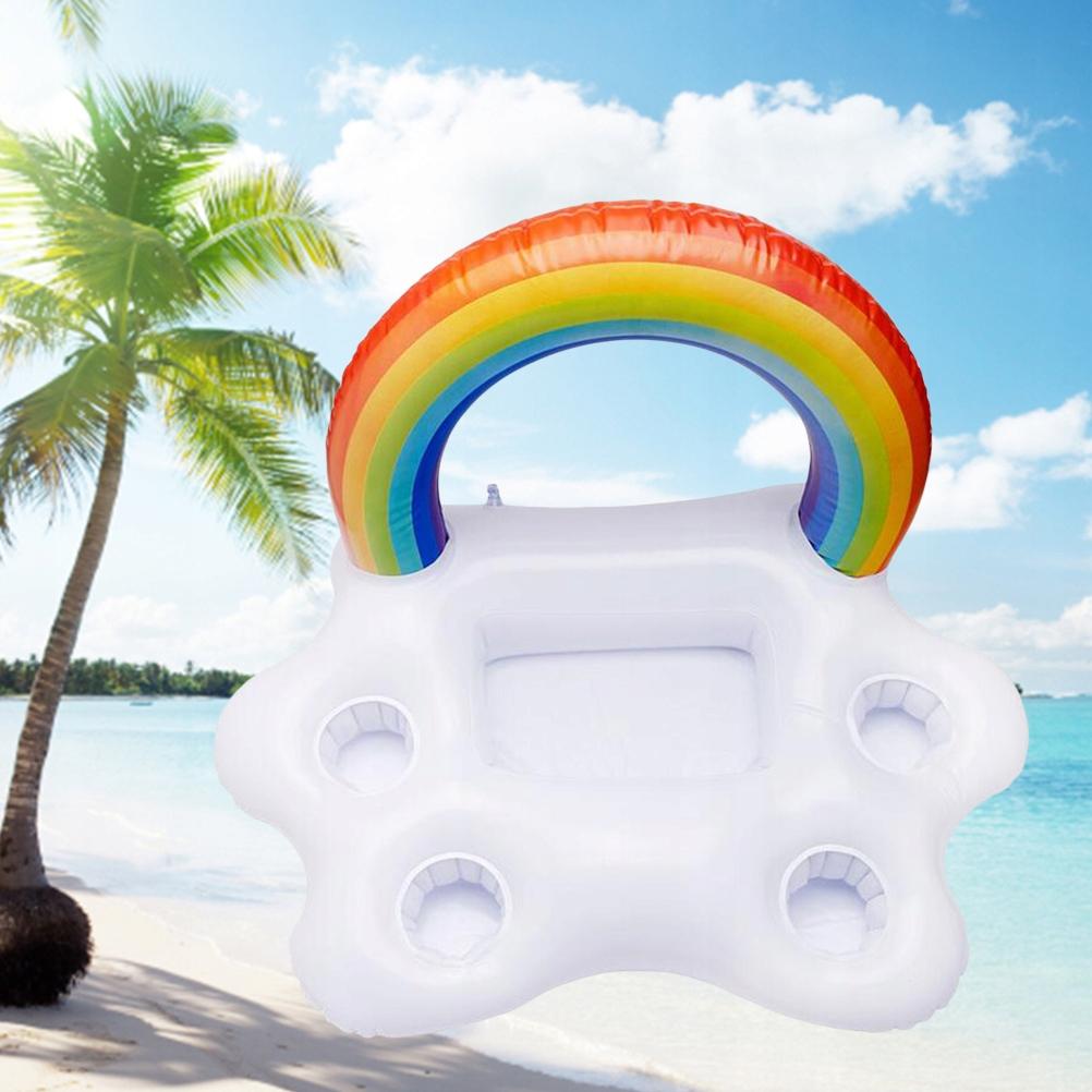 Summer Party Wiadro Rainbow Cloud Uchwyt na kubek