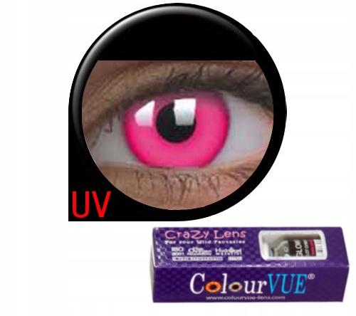 KOLOROWE SOCZEWKI IMPREZOWE Crazy Glow w UV Pink
