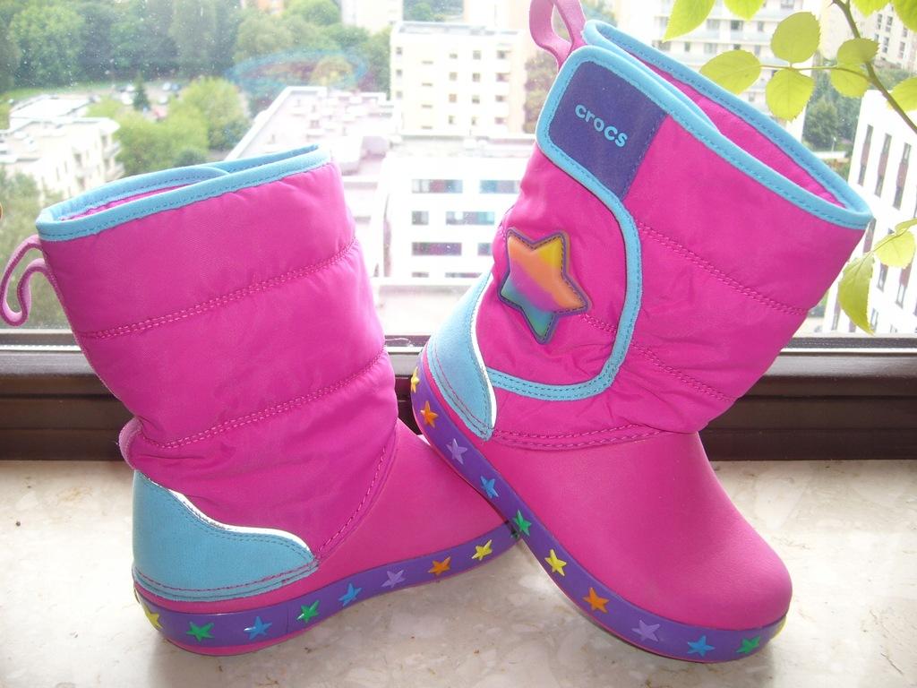 Crocs Lights buty zimowe śniegowce rC11(28) świecą