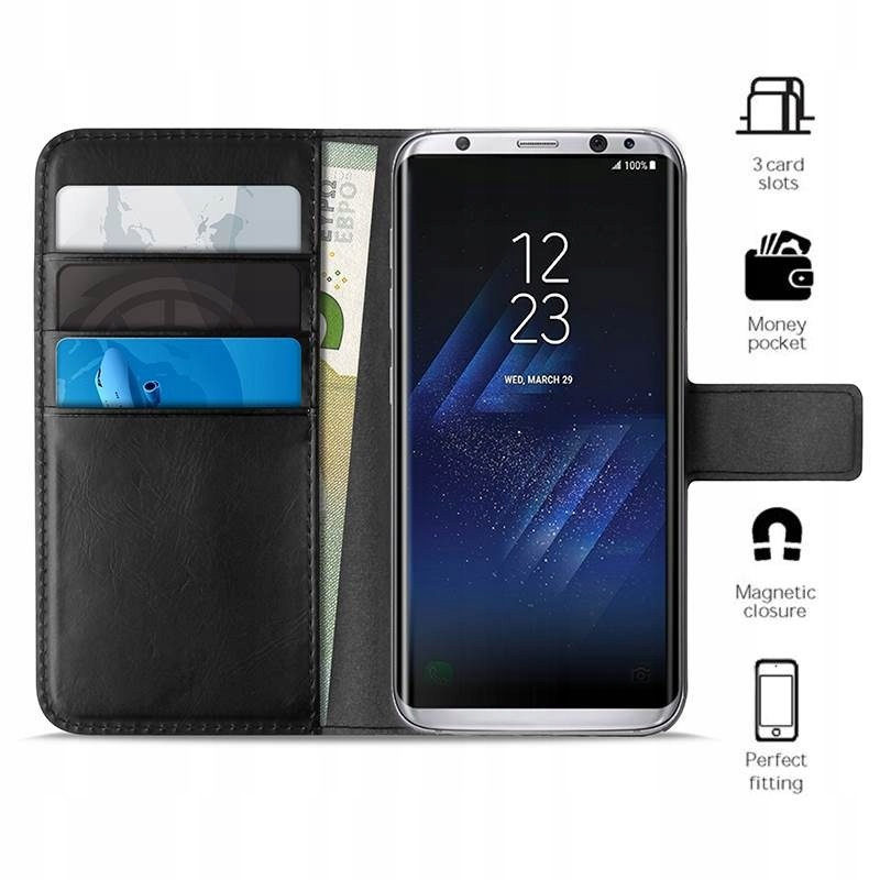 PURO Booklet Wallet Case - Etui Samsung Galaxy S8+