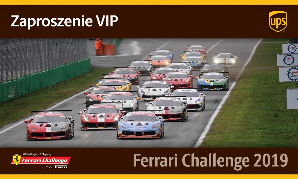 UPS zaproszenie na Ferrari Challenge IMOLA 2019