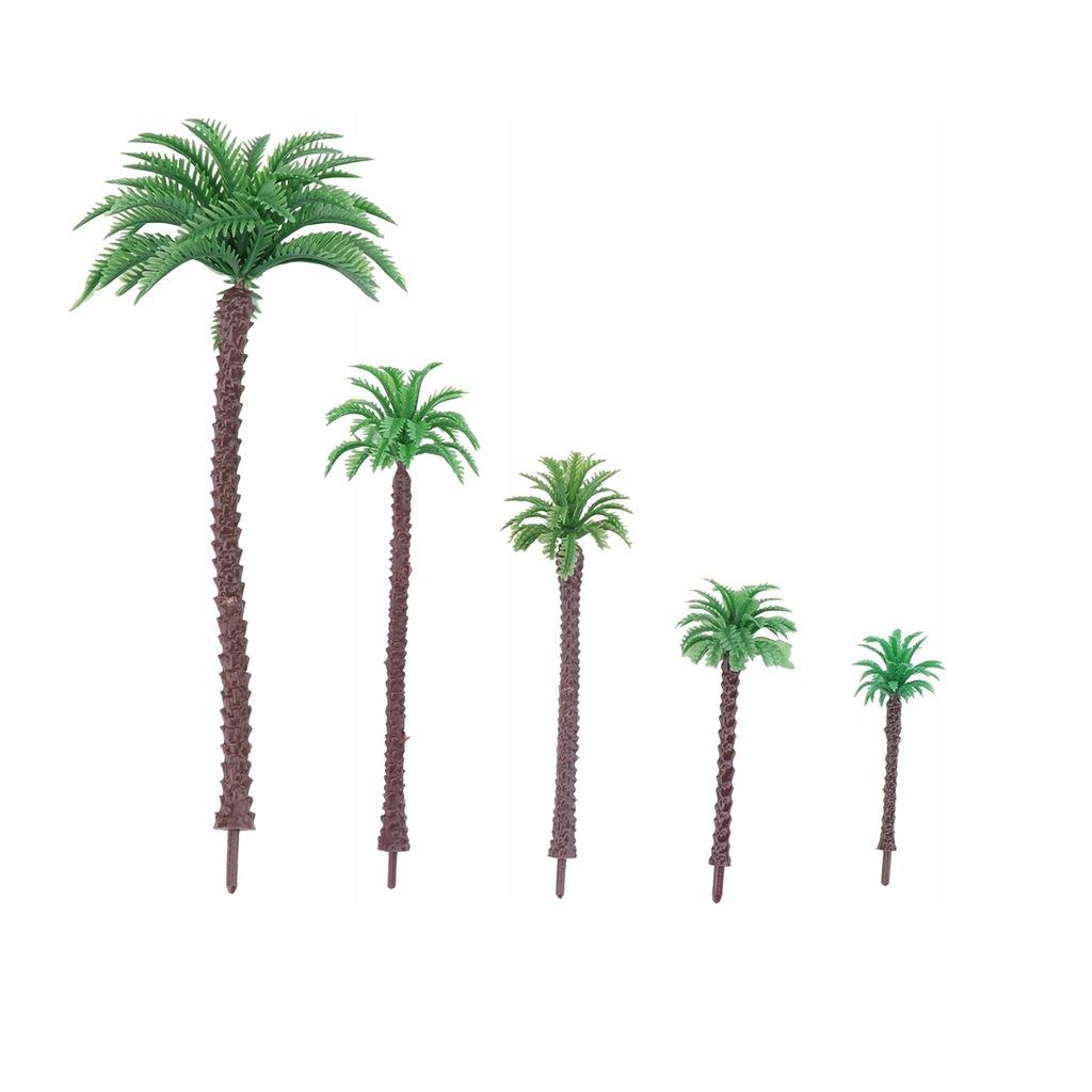 5 sztuk Model drzewa kokosowego Model stołu z pias
