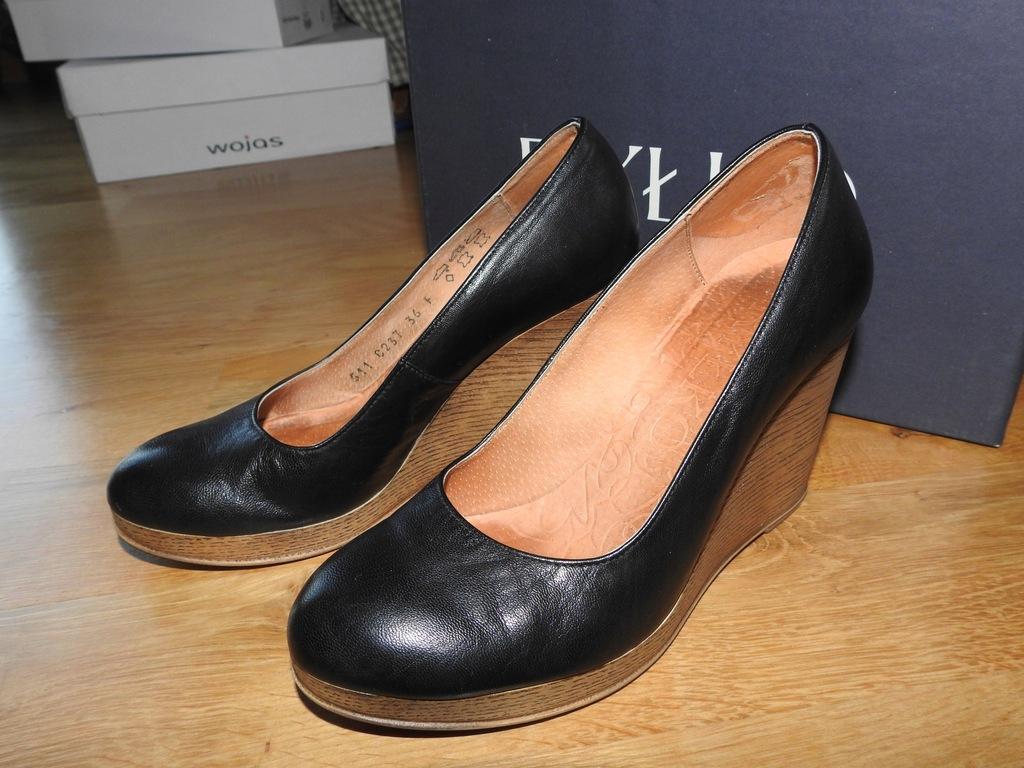 36 Ryłko czółenka koturny buty jak nowe