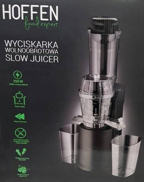 Wolnoobrotowa wiciskarka do soków Hoffen @Biedronka Pepper.pl