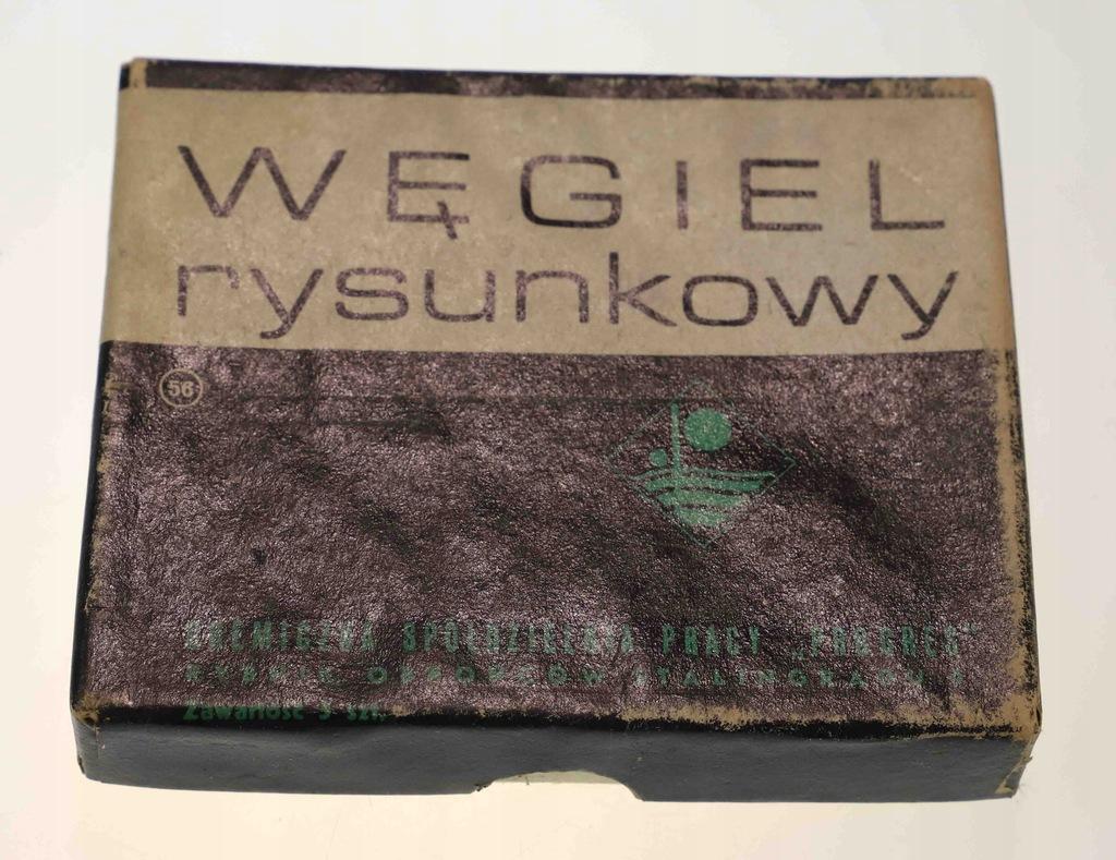 Węgiel rysunkowy z czasów PRL PROGRES Rybnik 1968