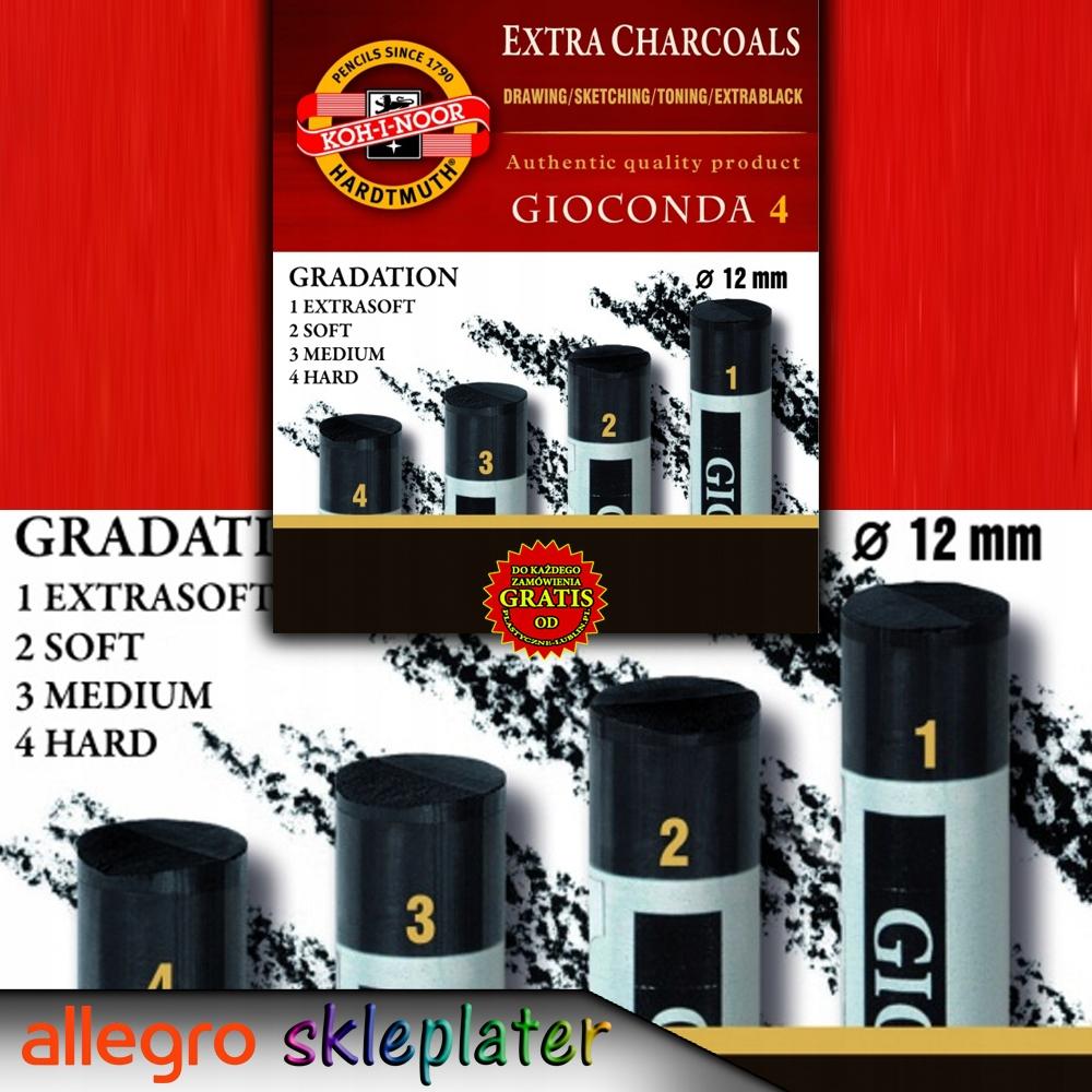 Węgiel prasowany w 4 twardościach GIOCONDA 8694