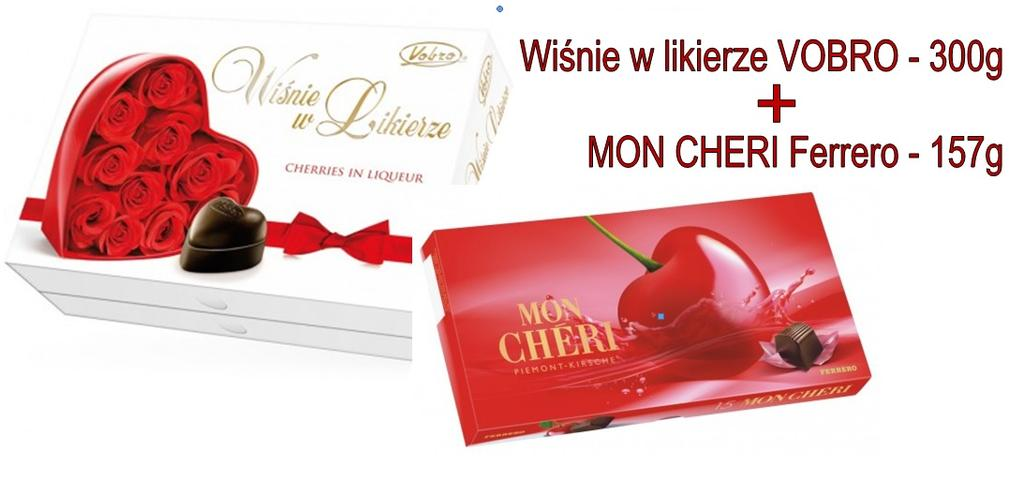 czekoladki MON CHERI Ferrero 157g + VOBRO 300g