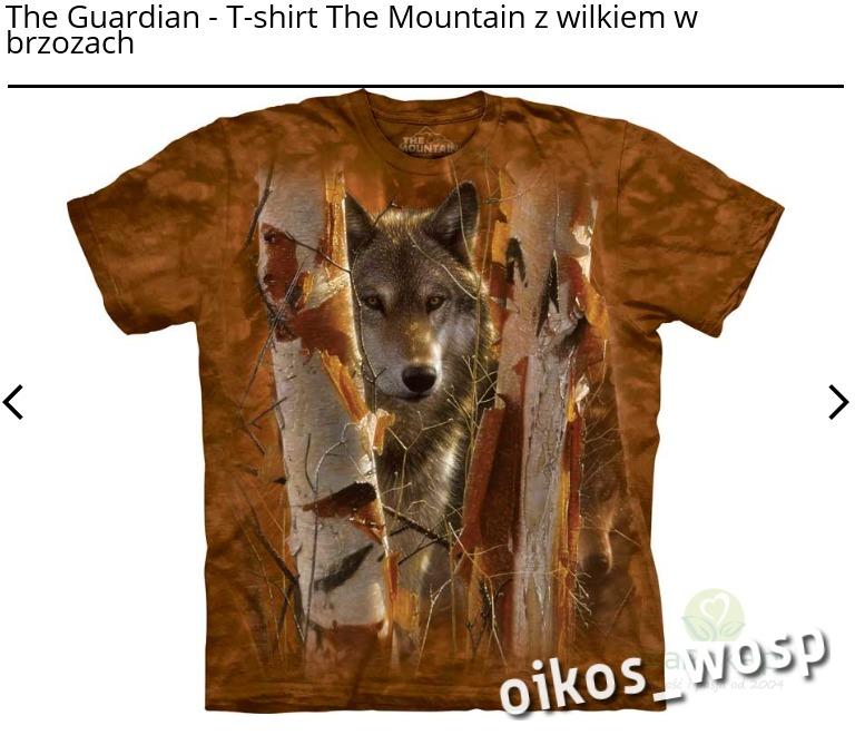 Koszulka The Mountain The Guardian wilk w brzozach
