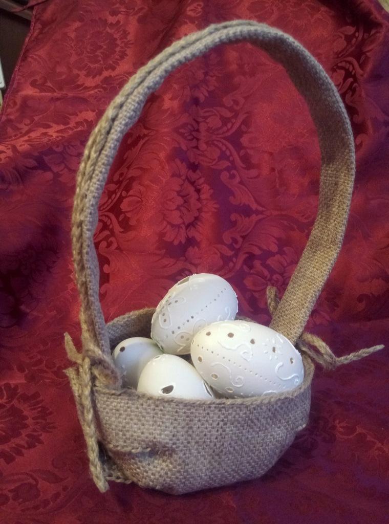 Koszyczek wielkanocny ze SZNURKA JUTOWEGO handmade