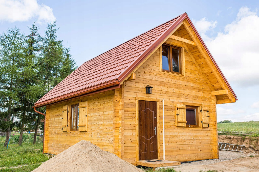Dom z bali 34+34m , bez pozwoleń, prosty montaż.