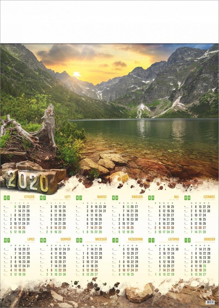 Kalendarz Plakatowy Scienny A1 2020 Widoki 8542348827 Oficjalne Archiwum Allegro