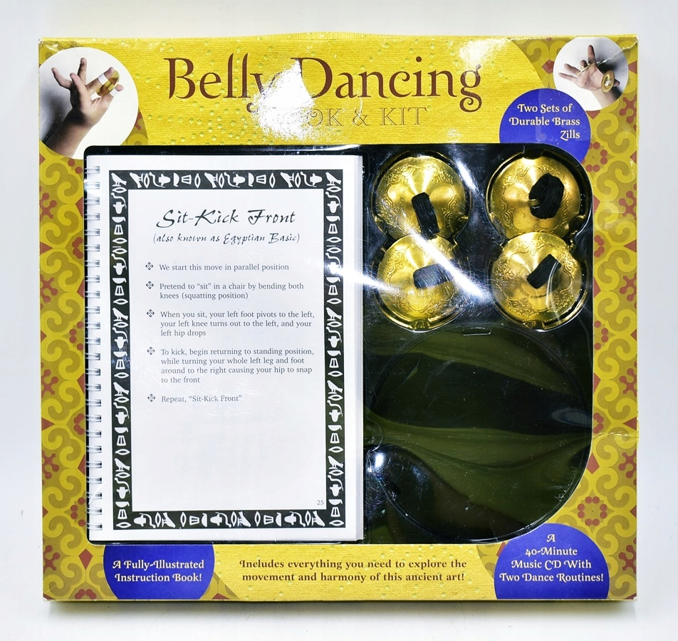 9138-25 BELLY DANCING BOOK&KIT k#o NAUKA TANCA