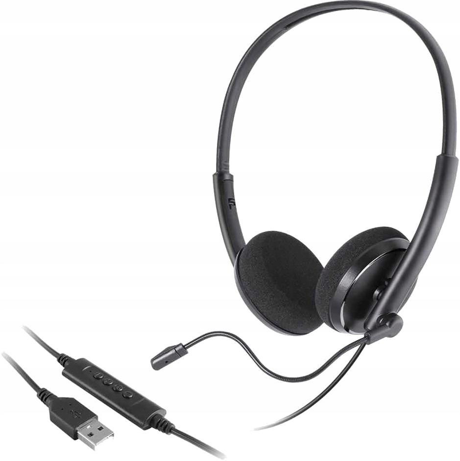 Słuchawki z mikrofonem USB Call Center Skype GRY