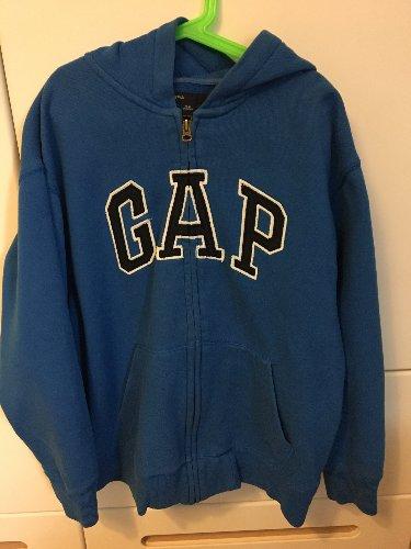 GAP niebieska bluza 152cm kangurka rozpinana 12-13