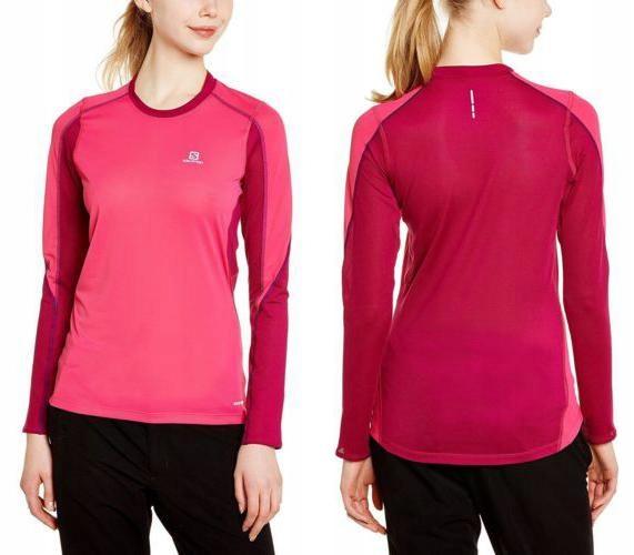 SALOMON Różowa sportowa koszulka active fit (M)
