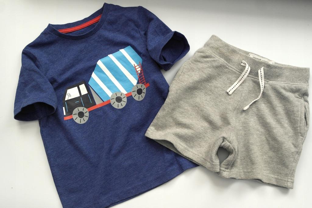TU t-shirt + dresowe szorty 92